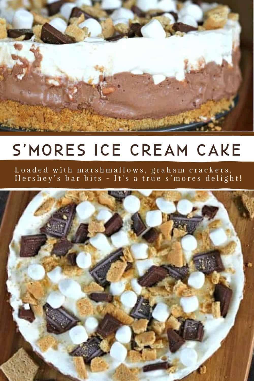 S\'more Ice Cream Cake