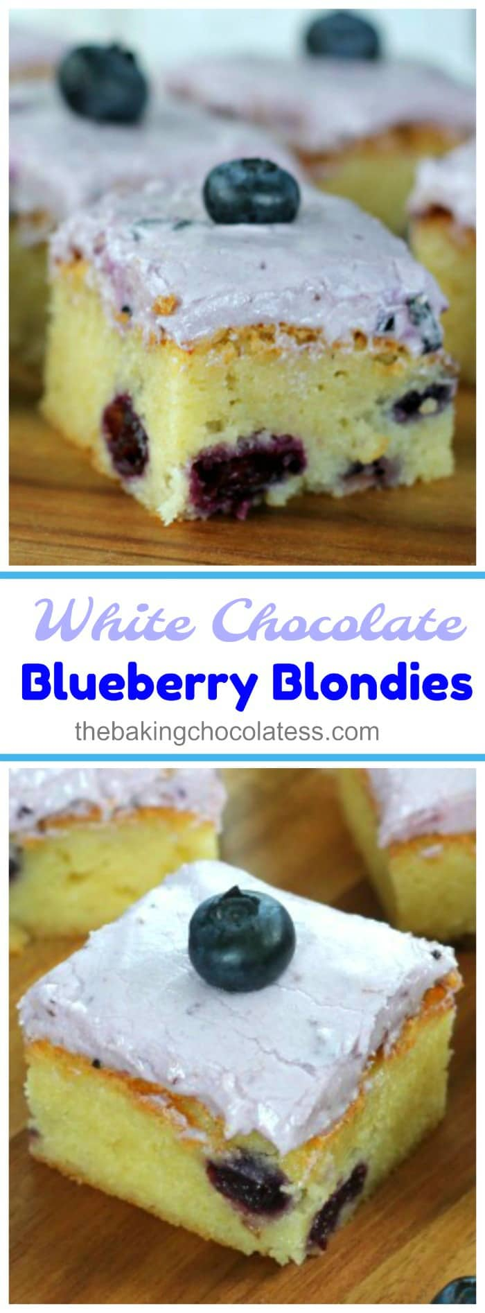 White Chocolate Blueberry Blondies