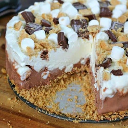 S'more Ice Cream Cake