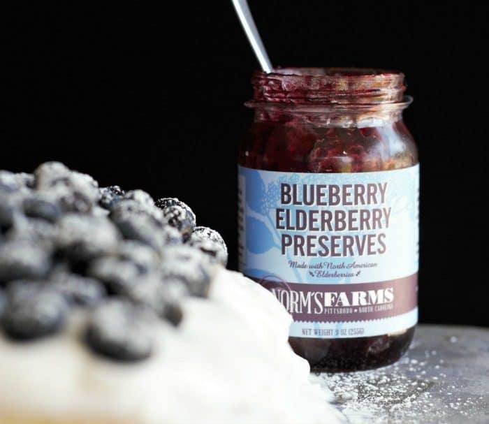 Blueberry Elderberry Cake Roll