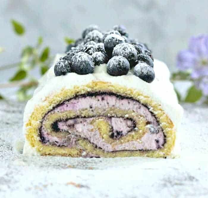 Blueberry Elderberry Cake Roll - It's Luscious!