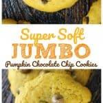 Super Soft Jumbo Pumpkin Chocolate Chip Cookies