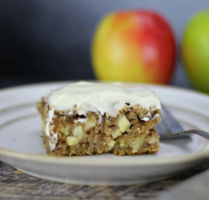 German Spiced Apple Cake with Cream Cheese Frosting