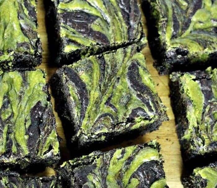 Matcha Cheesecake Swirled Brownies