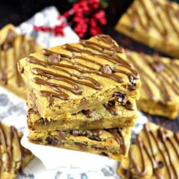 Sheet Pan Peanut Butter Chocolate Blondie Dream Bar