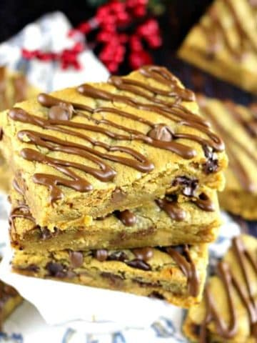Sheet Pan Peanut Butter Chocolate Blondie Dream Bars