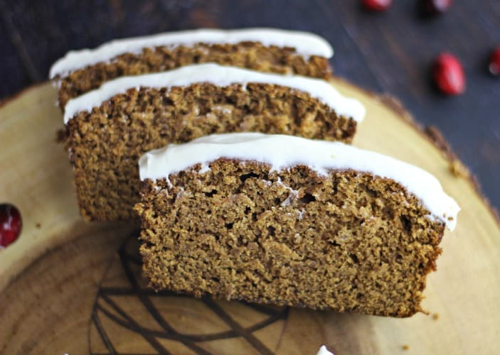 Starbuck's Gingerbread Loaf with Lemon Cream Cheese Buttercream Frosting