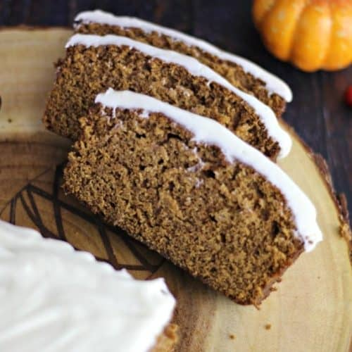 Spiced Gingerbread Loaf with Lemon Cream Cheese Buttercream Frosting