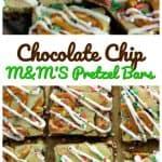 Chocolate Chip M&M'S Pretzel Bars