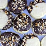 Vanilla Bean Shortbread Cookies (Salted Dark Chocolate Pecan On Top Option too!)