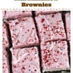 Peppermint Crunch Buttercream Marshmallow Brownies