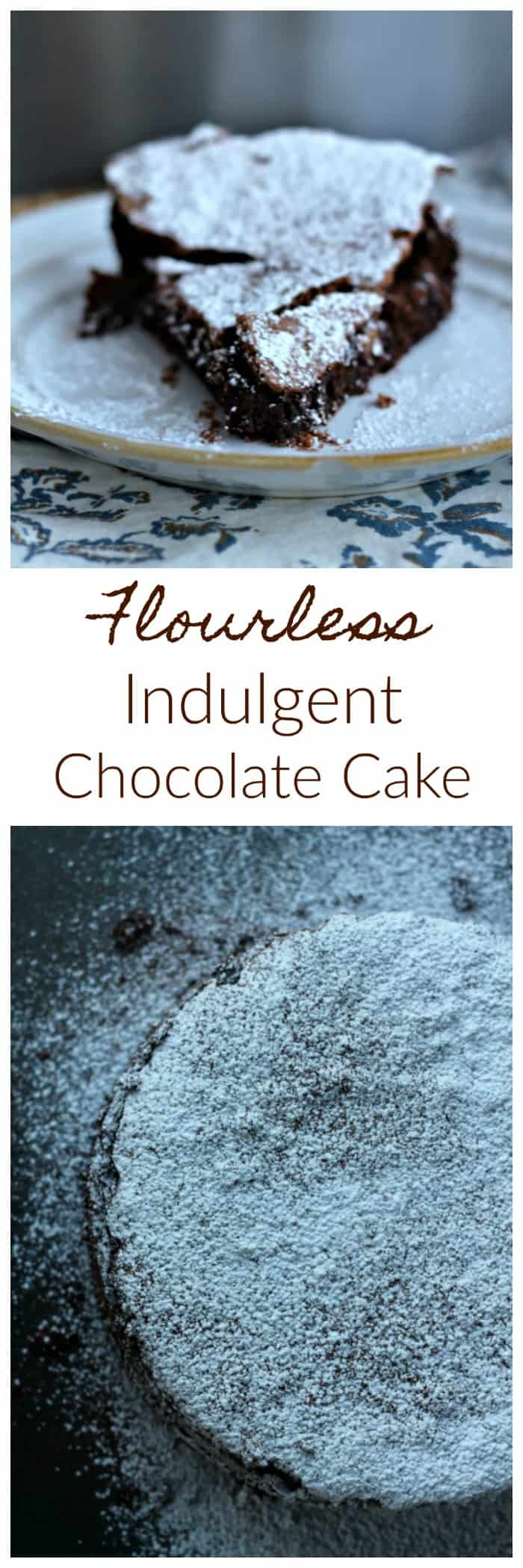 Flourless Indulgent Chocolate Explosion Cake!  Pure Chocolate Heaven! It's a super moist, chocolate fudge cake with a very dainty, crisp crust enrobing the cake.  It reminds me of a delectable chocolate cloud of heavenly bliss and it's insane with chocolate explosions of love in every bite!  #chocolate #flourless #cake #heaven #chocoholics #baking #valentinesday