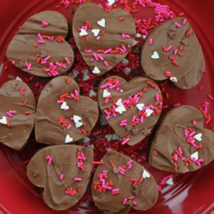 Valentine Milk Chocolatey Brownie Bites