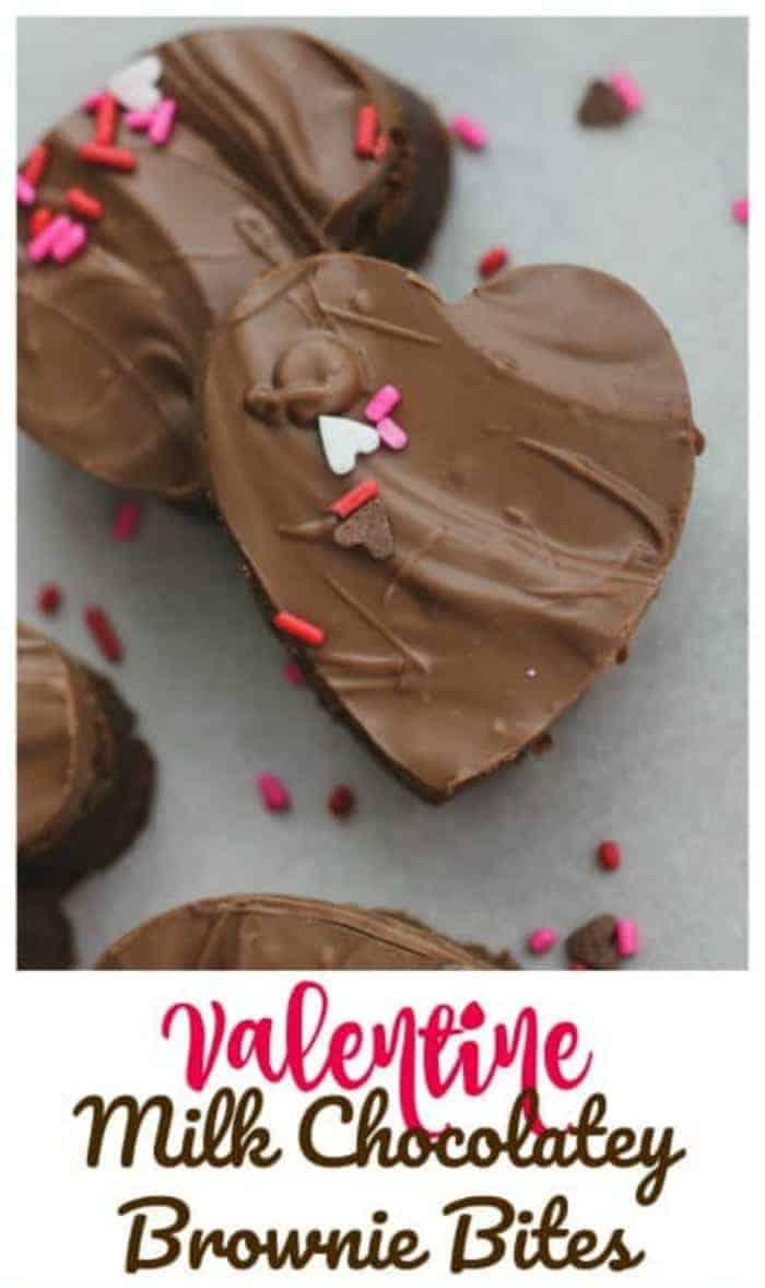 Valentine Brownie: Valentine Milk Chocolatey Brownie Bites