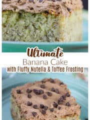 Ultimate Banana Cake with Fluffy Nutella & Toffee Frosting