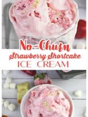 No-Churn Strawberry Shortcake Ice Cream