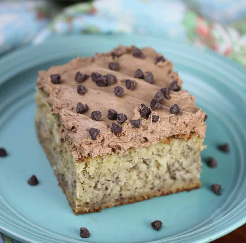 slice of the most ultimate, moist flavorful Banana Cake
