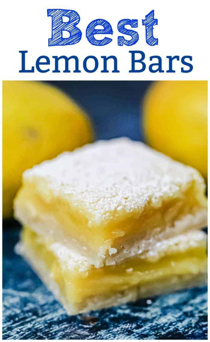 "Best Lemon Bars - The rich tartness of the gooey lemon curd filling, the sweetness of the powdered sugar, the flaky buttery shortbread crust…*sigh* They practically ""melt-in-your-mouth"". #lemon #bars #spring #summer #dessert bars #citrus #shortbread #lemonbars"