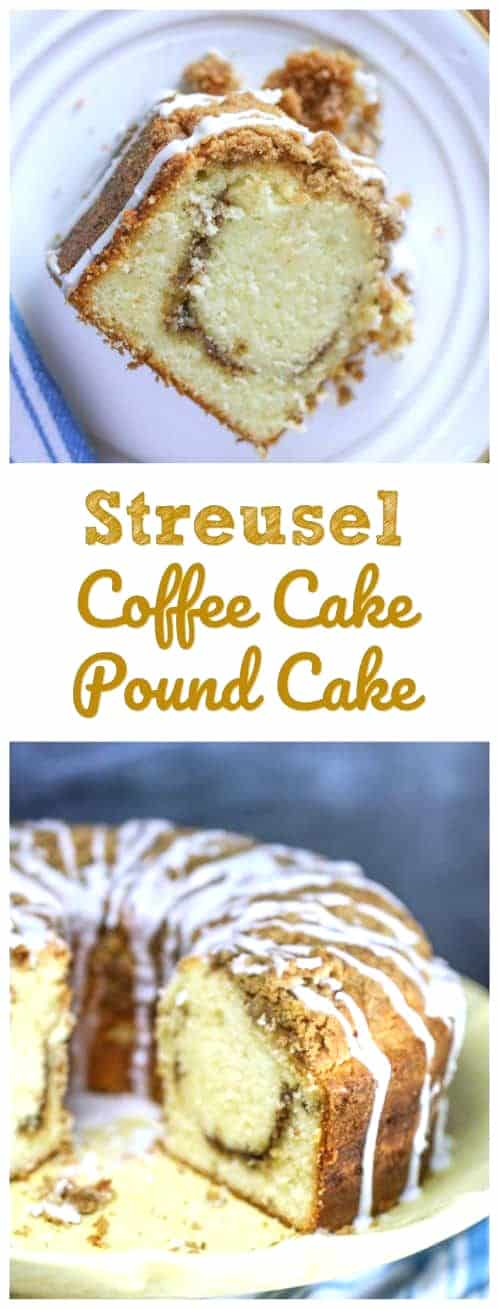 Enjoy this Southern old-fashioned tender, buttery coffee cake and pound cake with family and friends for special weekends and brunches! Feeds a crowd, looks elegant and tastes like heaven!#coffeecake #brunch #mothersday #holidays #poundcake