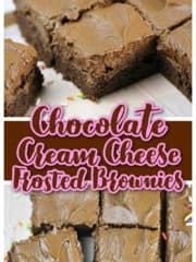 OMG! Chocolate Cream Cheese Frosted Brownies