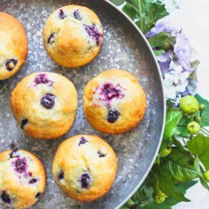 Bakery Style Blueberry & Blackberry Muffins