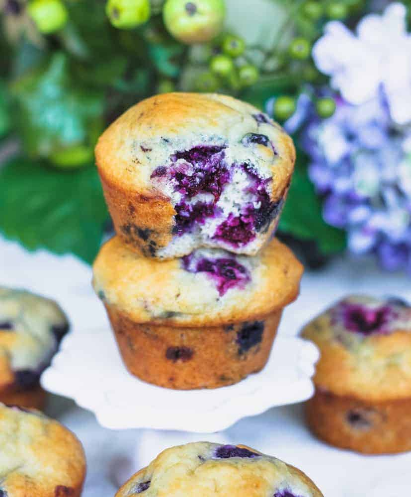Bakery Style Blueberry & Blackberry Muffins
