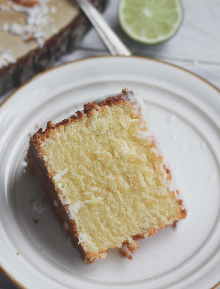 Luscious Coconut Lime Margarita Pound Cake