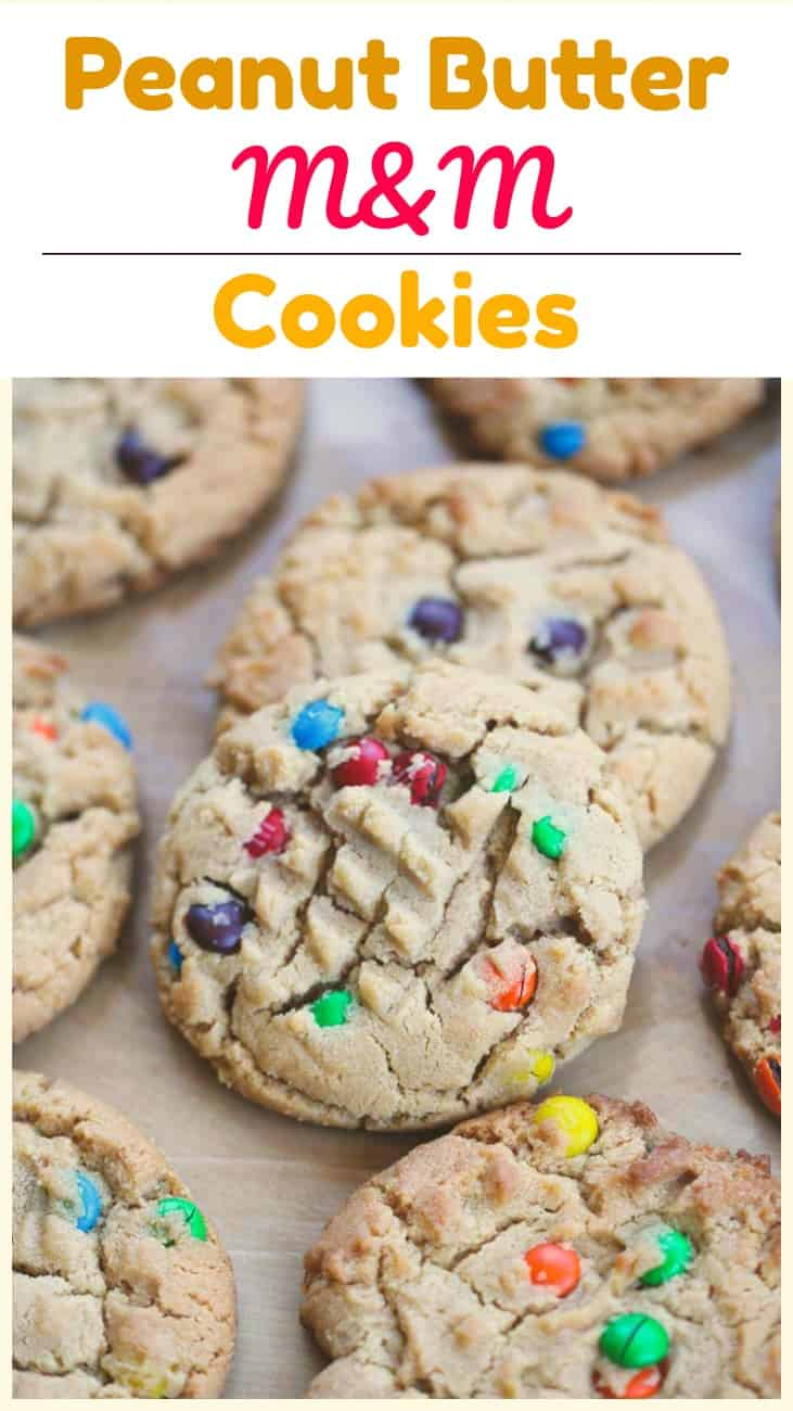 \'Can\'t Eat Just One\' Peanut Butter M&M Cookies