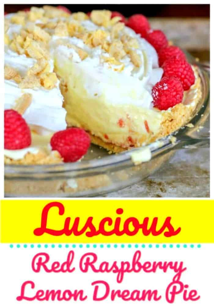 Luscious Red Raspberry Lemon Dream Pie