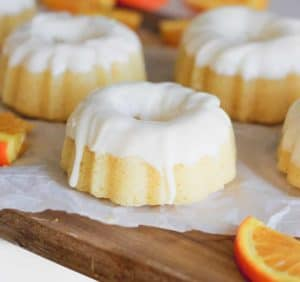 Orange Cream Glazed Pound Cakes
