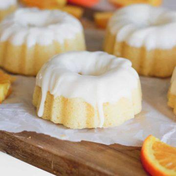 Orange Cream Glazed Pound Cakes