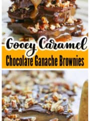 Gooey Caramel Chocolate Ganache Brownies