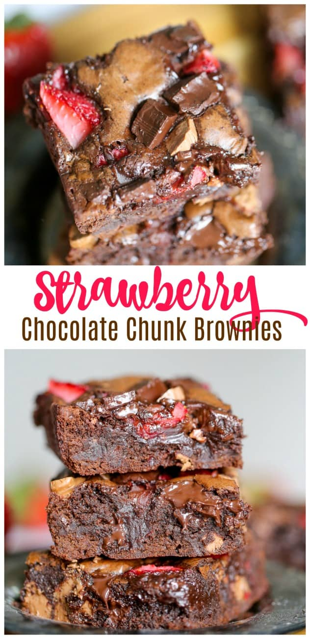 Strawberry Chocolate Chunk Brownies