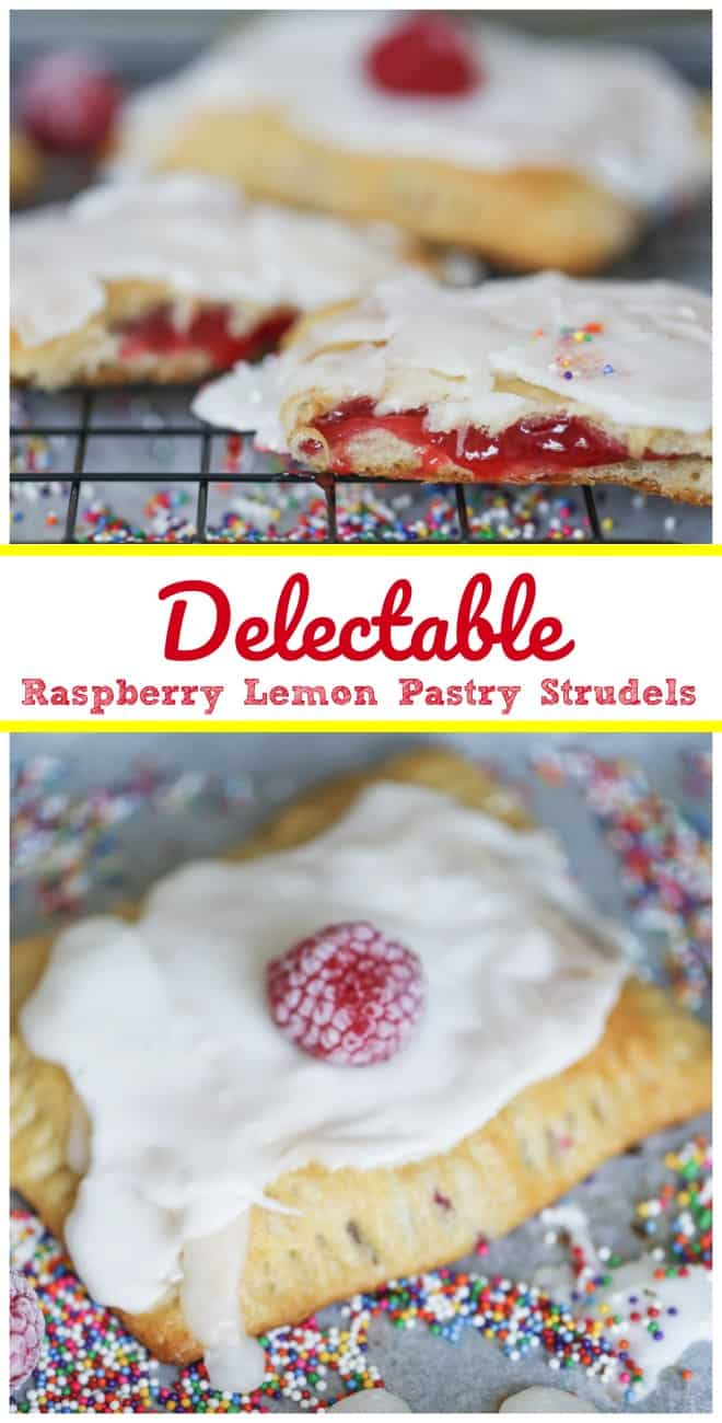 Delectable Raspberry Lemon Pastry Strudels