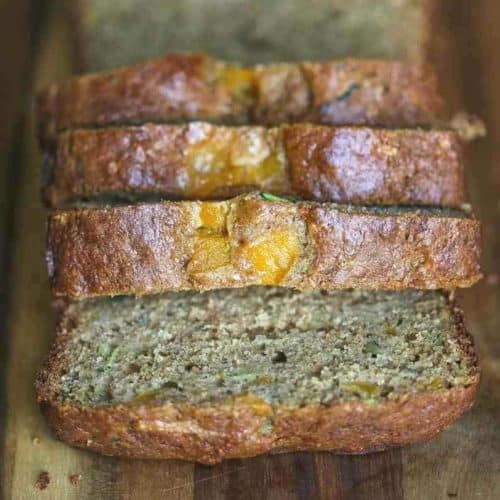 Healthy Peach Zucchini Bread