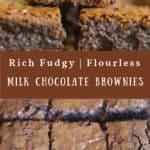 Rich Fudgy Flourless Brownies {GF}