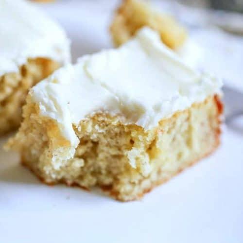 Yummy Sour Cream Banana Bars