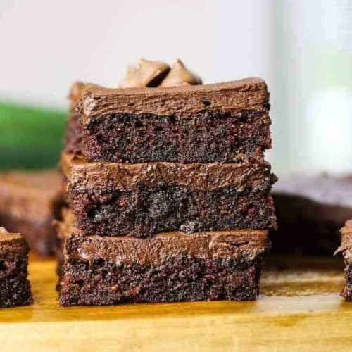 Best Fudgy Cocoa Zucchini Brownies