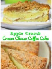 OMG Apple Crumb Cream Cheese Coffee Cake