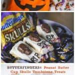 Butterfinger® Peanut Butter Cup Skulls Tombstone Treats