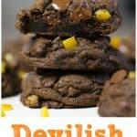 Fudgy Double Chocolate Orange Cookies