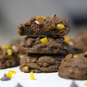 Fudgy Double Chocolate Orange Cookies