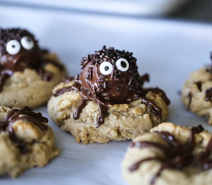 Spider Peanut Butter Truffle Cookies