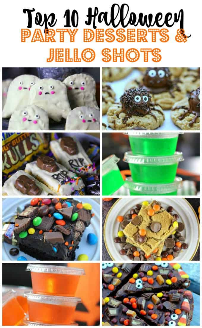 10 Halloween Party Desserts & Jello Shots! #jello shots #halloween #party #desserts #candy