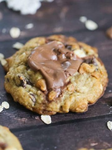 Ultimate Hazelnut Truffle Butterscotch Oatmeal Cookies
