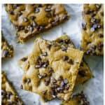 Sheet Pan Pumpkin Chocolate Chip Cookie Bars