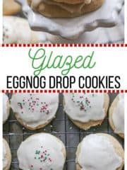 Glazed Eggnog Drop Cookies