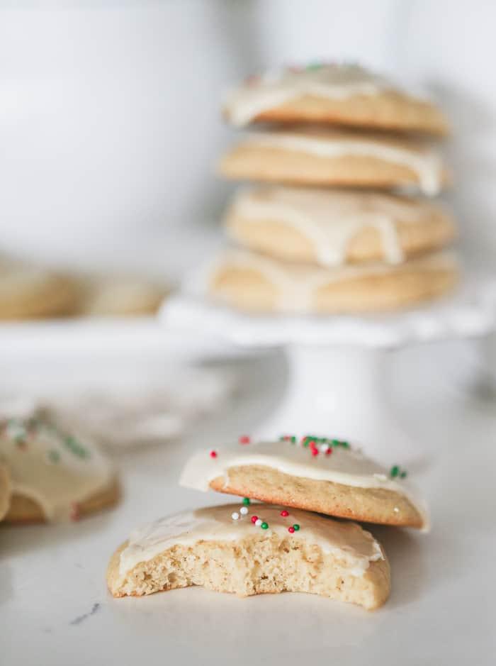 Easy Glazed Eggnog Drop Cookies