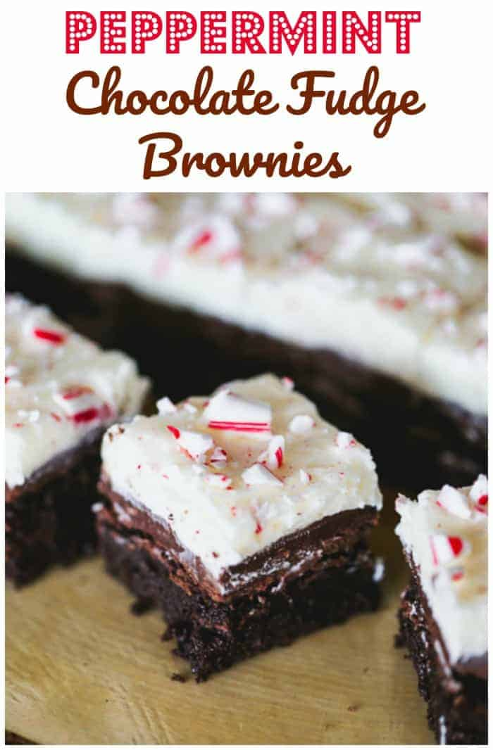 Ultimate Peppermint Chocolate Fudge Brownies -These rich, decadent fudgy brownies tout a fluffy peppermint candied buttercream frosting and a layer of chocolate ganache to make these the ultimate brownie treat for the holidays.