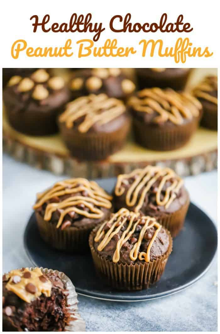 Healthy Chocolate Peanut Butter Muffins